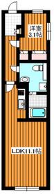 グローリオシェルト成増4階Fの間取り画像