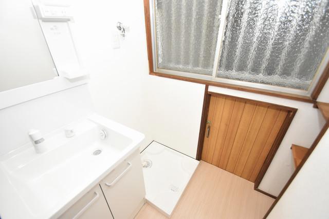 大蓮南2-15-9 貸家 嬉しい室内洗濯機置場。これで洗濯機も長持ちしますね。