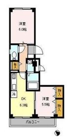 カーザ・ブリランテ3階Fの間取り画像