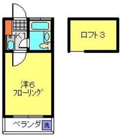 ハイム中原2階Fの間取り画像
