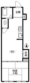 トノヅカビル4階Fの間取り画像
