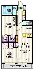 ファミーユⅡ1階Fの間取り画像