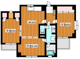 上板橋駅 徒歩22分3階Fの間取り画像