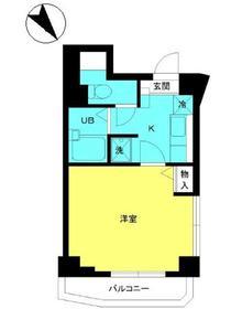 スカイコートヌーベル早稲田4階Fの間取り画像