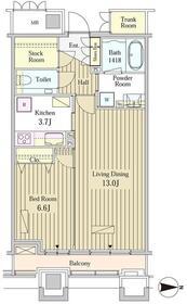 MOMENTO SHIODOME21階Fの間取り画像