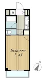 プライムハウス2階Fの間取り画像