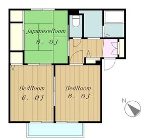 ウッドハイム2階Fの間取り画像