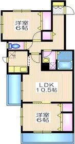 ドミール千束3階Fの間取り画像