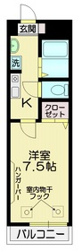 セレーノ吉祥寺2階Fの間取り画像