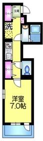 セレーノ押上2階Fの間取り画像