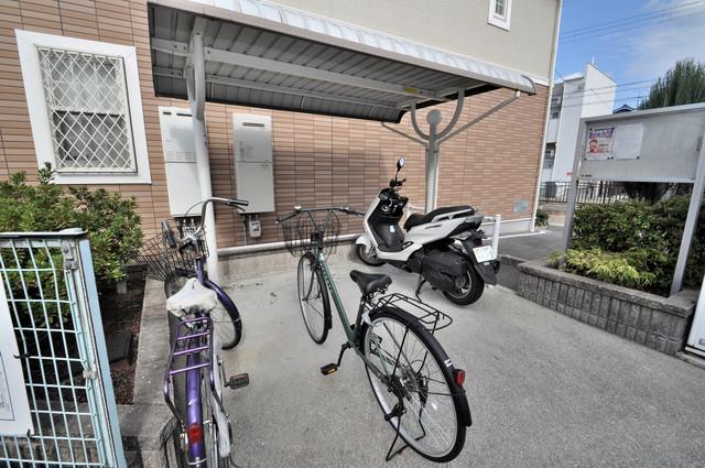 フォンテーヌ あなたの大事な自転車も安心してとめることができますね。