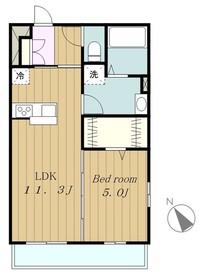 リブリSAKAE1階Fの間取り画像