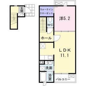 高尾駅 バス15分「元八事務所」徒歩7分2階Fの間取り画像
