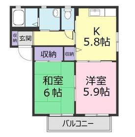 ラ・メールⅠ1階Fの間取り画像