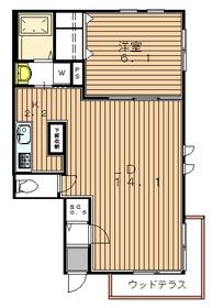 カーサ デル チエーロ1階Fの間取り画像