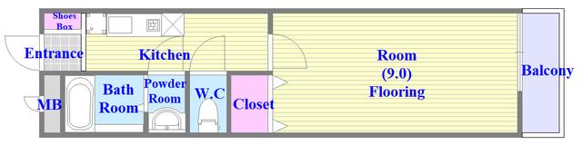 セントロイエルSeifu セパレートで広めの単身さん向けのお部屋です。