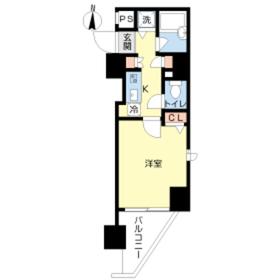 スカイコート護国寺7階Fの間取り画像
