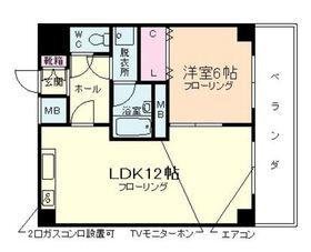 鎧橋ビル9階Fの間取り画像