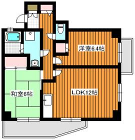 クレール赤塚3階Fの間取り画像