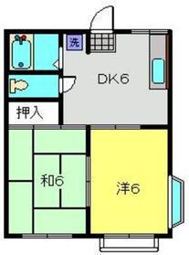 アミティー№42階Fの間取り画像
