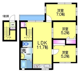 Maison de Ark メゾンドアーク2階Fの間取り画像