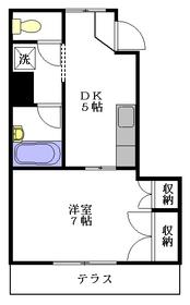 ヒルサイドテラス1階Fの間取り画像