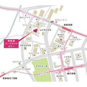 西新宿パークサイドタワー案内図