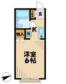 ソフィア青木葉21階Fの間取り画像