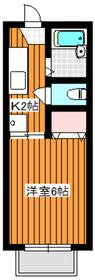 地下鉄成増駅 徒歩3分2階Fの間取り画像