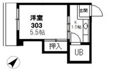 小石川ガーデン3階Fの間取り画像