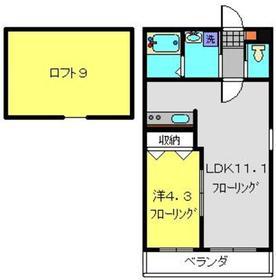 ザ・ファルティ横濱岡村2階Fの間取り画像