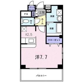 K・O レ-ベン1階Fの間取り画像
