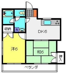 コーレ藤2階Fの間取り画像
