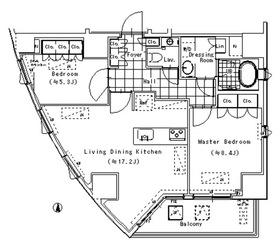 アルティスコート南青山7階Fの間取り画像