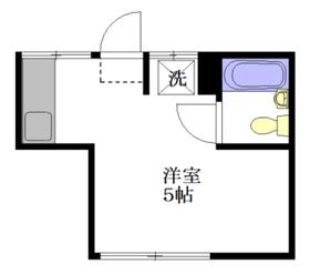 みなと荘2階Fの間取り画像