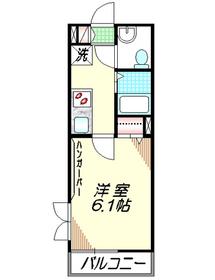 フルール4階Fの間取り画像