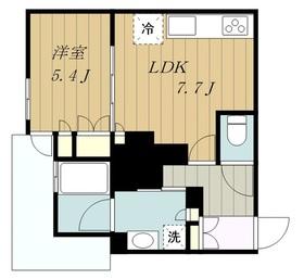 リビオタワー小田急相模原レジデンス8階Fの間取り画像
