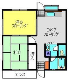 パークサイドN2階Fの間取り画像