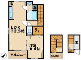 クレール・アンジュ2階Fの間取り画像