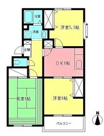 中野島駅 徒歩11分2階Fの間取り画像
