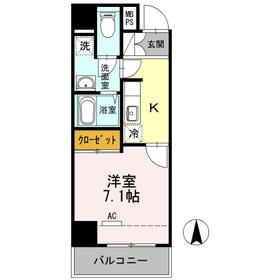 COURT BREEZE多摩川2階Fの間取り画像