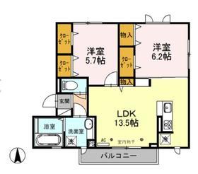 (仮)D‐Room海老名市杉久保南1丁目3階Fの間取り画像