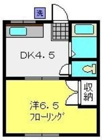 東神奈川駅 徒歩16分2階Fの間取り画像