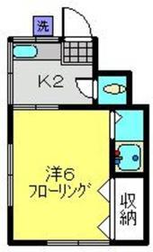 畑ヶ谷荘1階Fの間取り画像