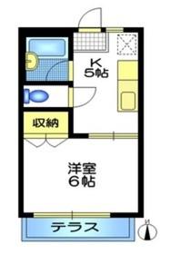 メゾン泰山2階Fの間取り画像