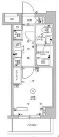 スカイコート川崎京町2階Fの間取り画像
