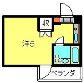 ベルビュー日吉3階Fの間取り画像