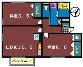 サンコート1番館2階Fの間取り画像