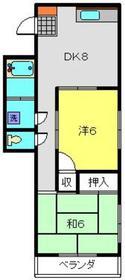 港南マンション2階Fの間取り画像