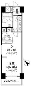 ミリオングランデ元赤坂ヒルズ1102号室11階Fの間取り画像